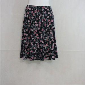 Black Flower Skirt.